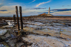 St marys latarnia morska Zdjęcia Royalty Free