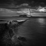 St marys lighthouse Royalty Free Stock Image