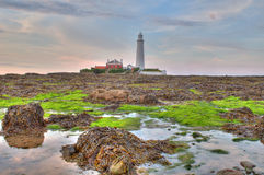 St Marys Lighthouse Royalty Free Stock Photo