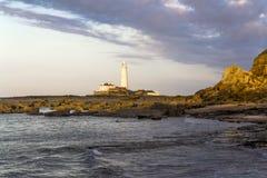 St Marys Lighthouse and Island at Whitley Bay, North Tyneside, England, UK. Stock Photo