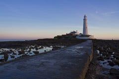 St Marys Lighthouse and Island at Whitley Bay, North Tyneside, England, UK. Royalty Free Stock Photo
