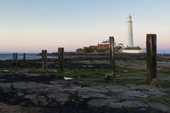 St Marys Lighthouse and Island at Whitley Bay, North Tyneside, England, UK. Royalty Free Stock Photography