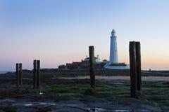 St Marys Lighthouse and Island at Whitley Bay, North Tyneside, England, UK. Stock Photos