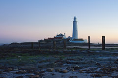 St Marys Lighthouse and Island at Whitley Bay, North Tyneside, England, UK. Stock Photography