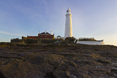 St Marys Lighthouse and Island at Whitley Bay, North Tyneside, England, UK. Royalty Free Stock Photos