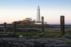St Marys Lighthouse and Island at Whitley Bay, North Tyneside, England, UK. Stock Images
