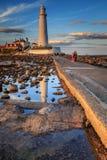 St marys lighthouse Royalty Free Stock Image