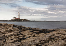 St Marys Lighthouse  from Old Hartley. Stock Images