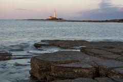 St Marys Lighthouse  from Old Hartley. Stock Photography