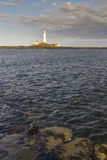 St Marys Lighthouse  from Old Hartley. Royalty Free Stock Photography