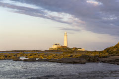 St Marys Lighthouse  from Old Hartley. Stock Photos