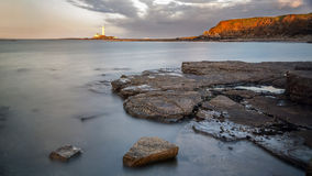 St Marys Lighthouse from Old Hartley. Stock Image