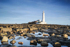 St Marys lighthouse Whitely Bay. Taken in the morning light stock photos