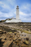 St marys lighthouse whitley bay. St marys lighthouse in whitley bay on the northeast coast of england, first operational in 1898 and decomissioned in 1984 , the Stock Photography