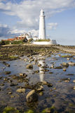 St Marys Lighthouse in Whitley Bay. St Marys Lighthouse with reflection Royalty Free Stock Photography