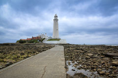 St marys lighthouse whitley bay england. St marys lighthouse in whitley bay on the northeast coast of england, first operational in 1898 and decomissioned in Stock Photography