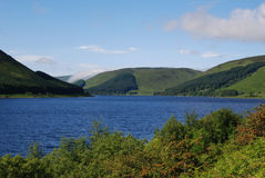 St. Marys Loch in Selkirkshire. View of St. Marys loch in Scottish Borders in summer Stock Photo