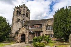 St Marys, Onder- Alderley-Parochiekerk in Cheshire Stock Afbeelding