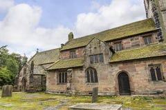 St Marys, Onder- Alderley-Parochiekerk in Cheshire Royalty-vrije Stock Fotografie