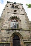 St Marys, Onder- Alderley-Parochiekerk in Cheshire Stock Afbeeldingen