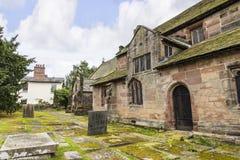 St Marys, Onder- Alderley-Parochiekerk in Cheshire Royalty-vrije Stock Foto