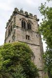 St Marys, Onder- Alderley-Parochiekerk in Cheshire Stock Foto