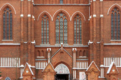 St Matas catholic gothic church front Anyksciai Stock Images