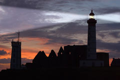 St Mathieu Lighthouse At Dusk Stock Image