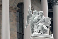 St. Matthew with an angel Royalty Free Stock Photos
