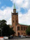 St Matthew Church is een neo-Romaanse kerk bij de zuidelijke rand van Tiergarten in Berlijn royalty-vrije stock foto's