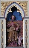 St. Matthew the Evangelist. Statue on the pulpit in the church of Saint Matthew in Stitar, Croatia Royalty Free Stock Images