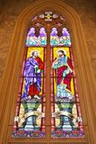 ST. Matthew  and ST. Thomas Stained glass Royalty Free Stock Image
