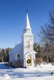 St. Matthews Episcopal Church in Winter - Sugar Hill, New Hampsh Royalty Free Stock Photos