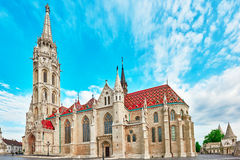 St. Matthias Church in Budapest. One of the main temple in Hunga Royalty Free Stock Image