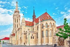 St. Matthias Church in Budapest. One of the main temple in Hunga Stock Images
