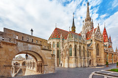 St. Matthias Church in Budapest. One of the main temple in Hunga Royalty Free Stock Photography