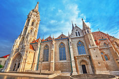 St. Matthias Church in Budapest. One of the main temple in Hunga Stock Image