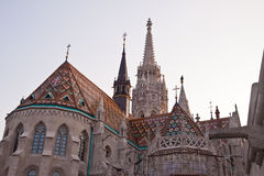 St. Matthias Church and Fisherman's bastion in Budapest, Hungary Royalty Free Stock Photography