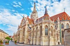 St Matthias Church i Budapest en av den huvudsakliga templet i Hunga royaltyfri foto