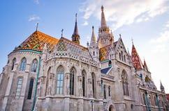 St Matthias kerk in Boedapest, Hongarije Stock Afbeelding