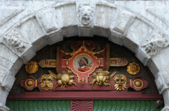 St Maurice Image on the Door Royalty Free Stock Image