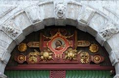 St Maurice Image en la puerta Imagen de archivo libre de regalías