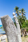 St Maurice memorial. On Île des Pins (Isle of Pines, Kunie Island), New Caledonia, Pacific Ocean celebrating the first christian communion  for the Kunie Royalty Free Stock Images