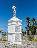 St Maurice memorial on Isle of Pines. St Maurice memorial on Île des Pins (Isle of Pines, Kunie Island), New Caledonia, Pacific Ocean celebrating the first Stock Photography