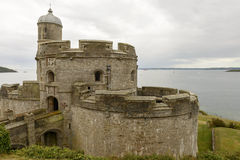 St. Mawes castle, Cornwall Royalty Free Stock Images