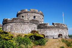 St. Mawes, England: 1539-45 St. Mawes Castle. St. Mawes Castle dates to circa 1539-1545, a clover leaf design coastal artillery fortress, was built by King Henry Royalty Free Stock Photo