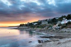 St Mawes i Cornwall Arkivfoto