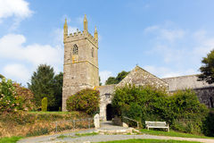 St Mawgan in Meneage church Cornwall England located on The Lizard peninsula south of Helston Royalty Free Stock Photos