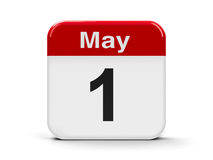 1st May. Calendar web button - First of May, three-dimensional rendering Royalty Free Stock Photos