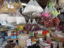 1st May Seremban, Malaysia Huvudsaklig marknad som är bekant som Pasar Besar Seramban under helgen Fotografering för Bildbyråer